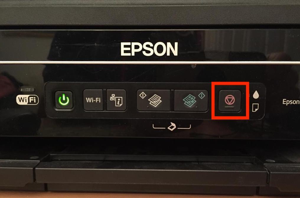 Tasti della stampante Epson